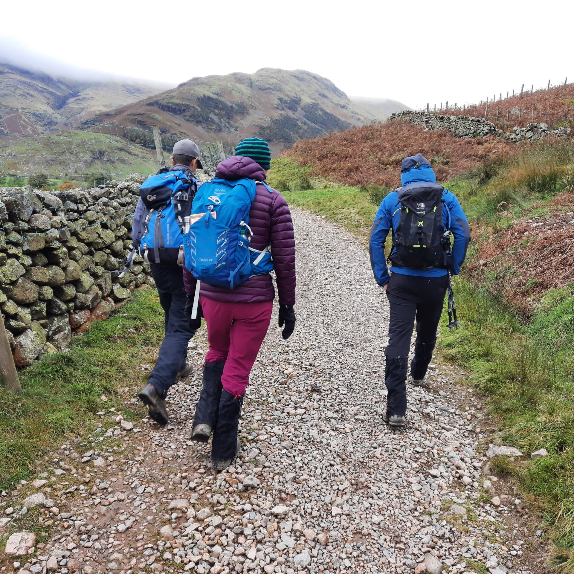 Romsey Climbers hill walking in Lakes