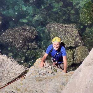Seacliff climbing with RoCs - John Horton