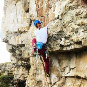 Mandy Chapman sport climbing Portland